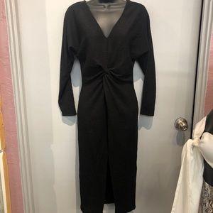 NWT Black Long Sleeve Dress W/ Slit